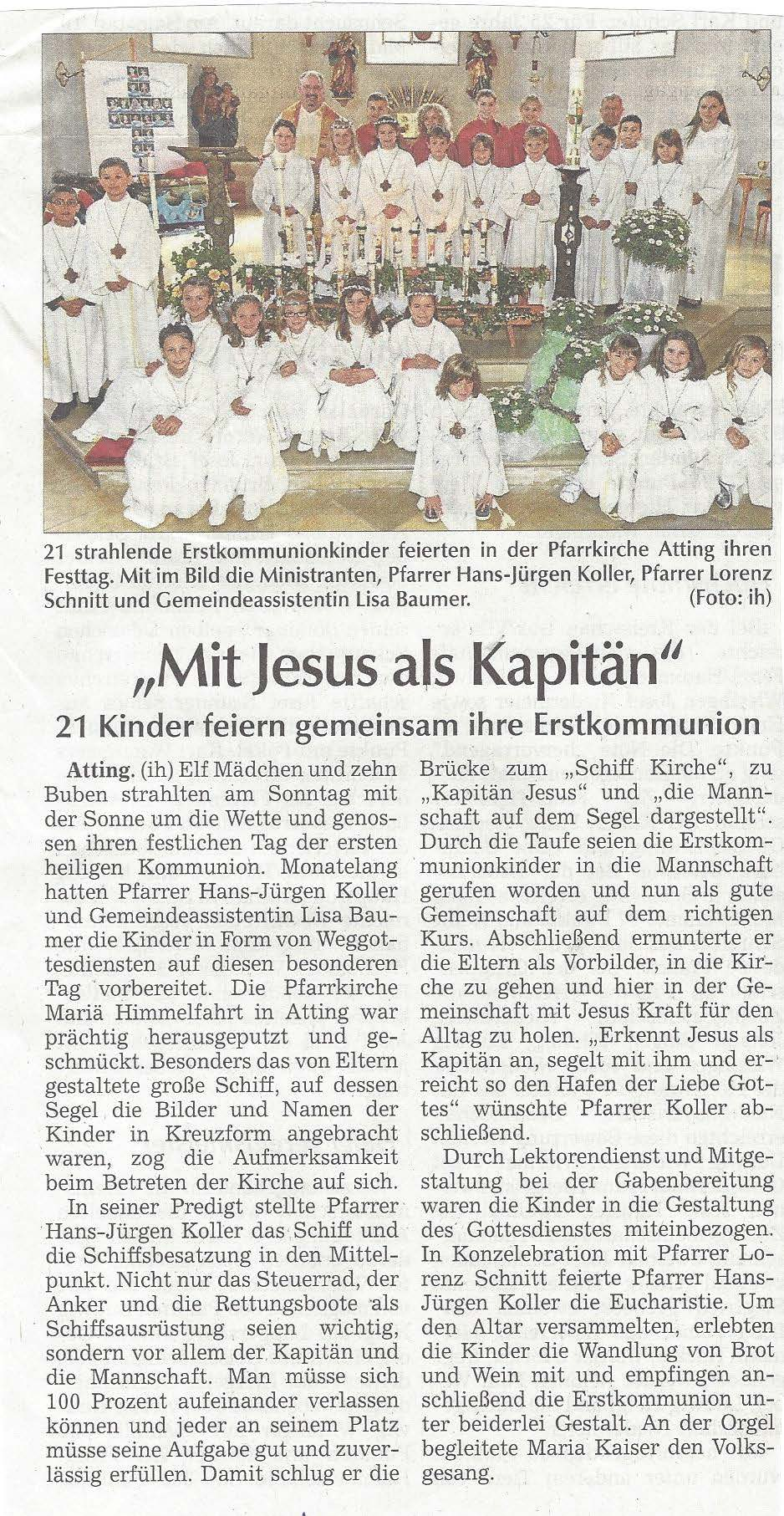 presseartikel_erstkommunion
