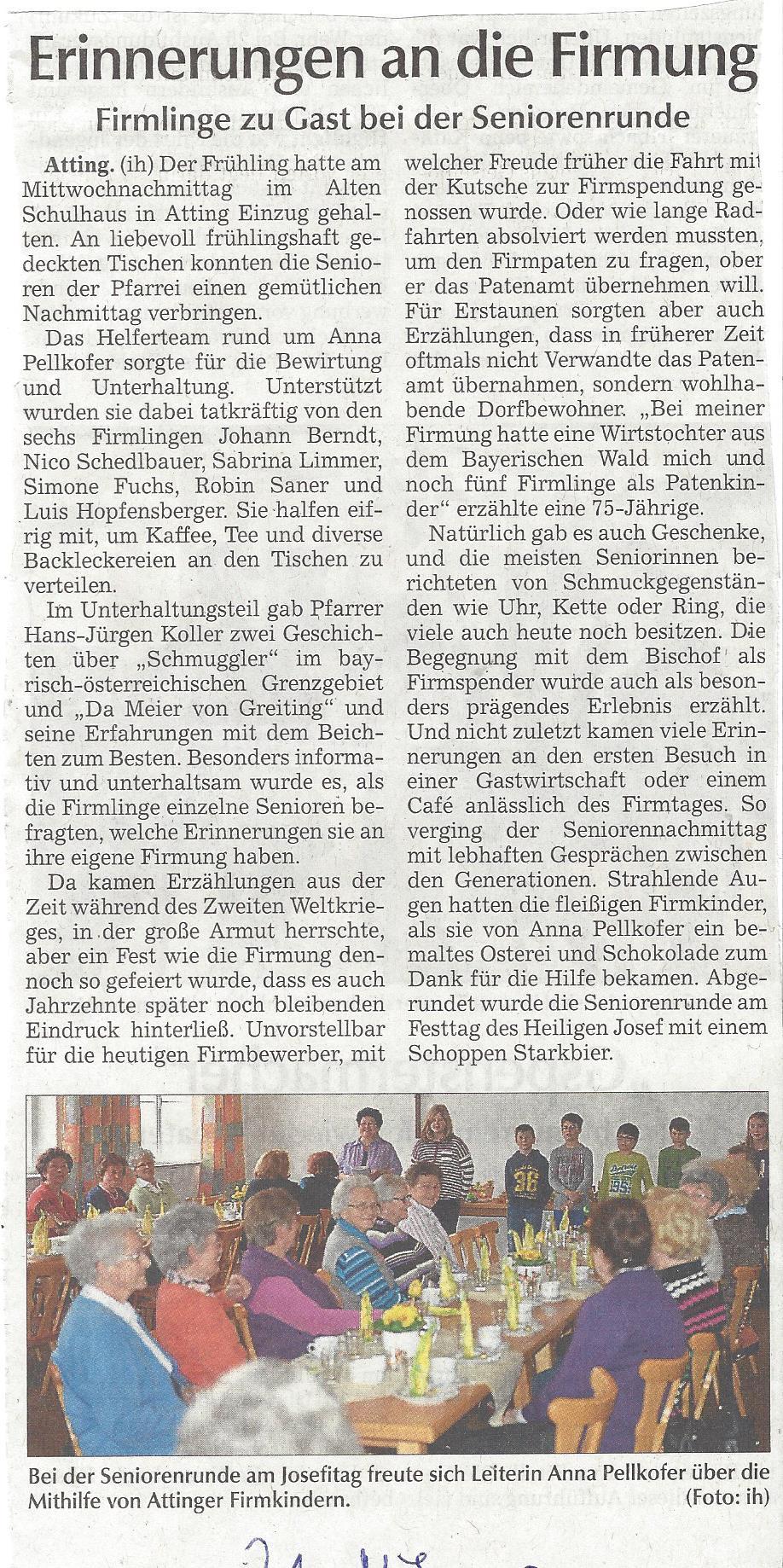 presseartikel_pfarrgemeinderat_seniorenrunde_mit_firmlingen