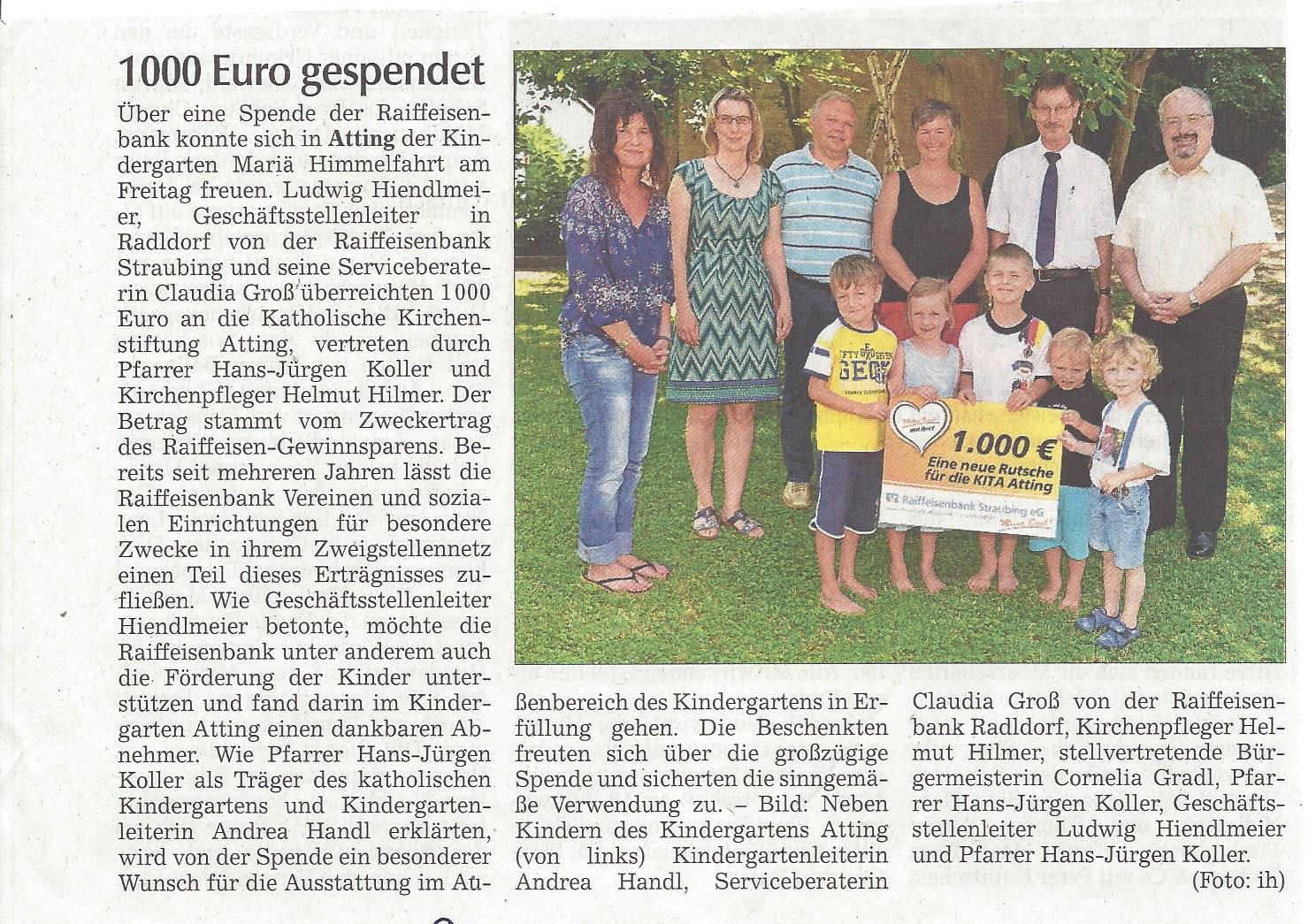 presseartikel_spende_an_kindergarten_durch_raiba_radldorf