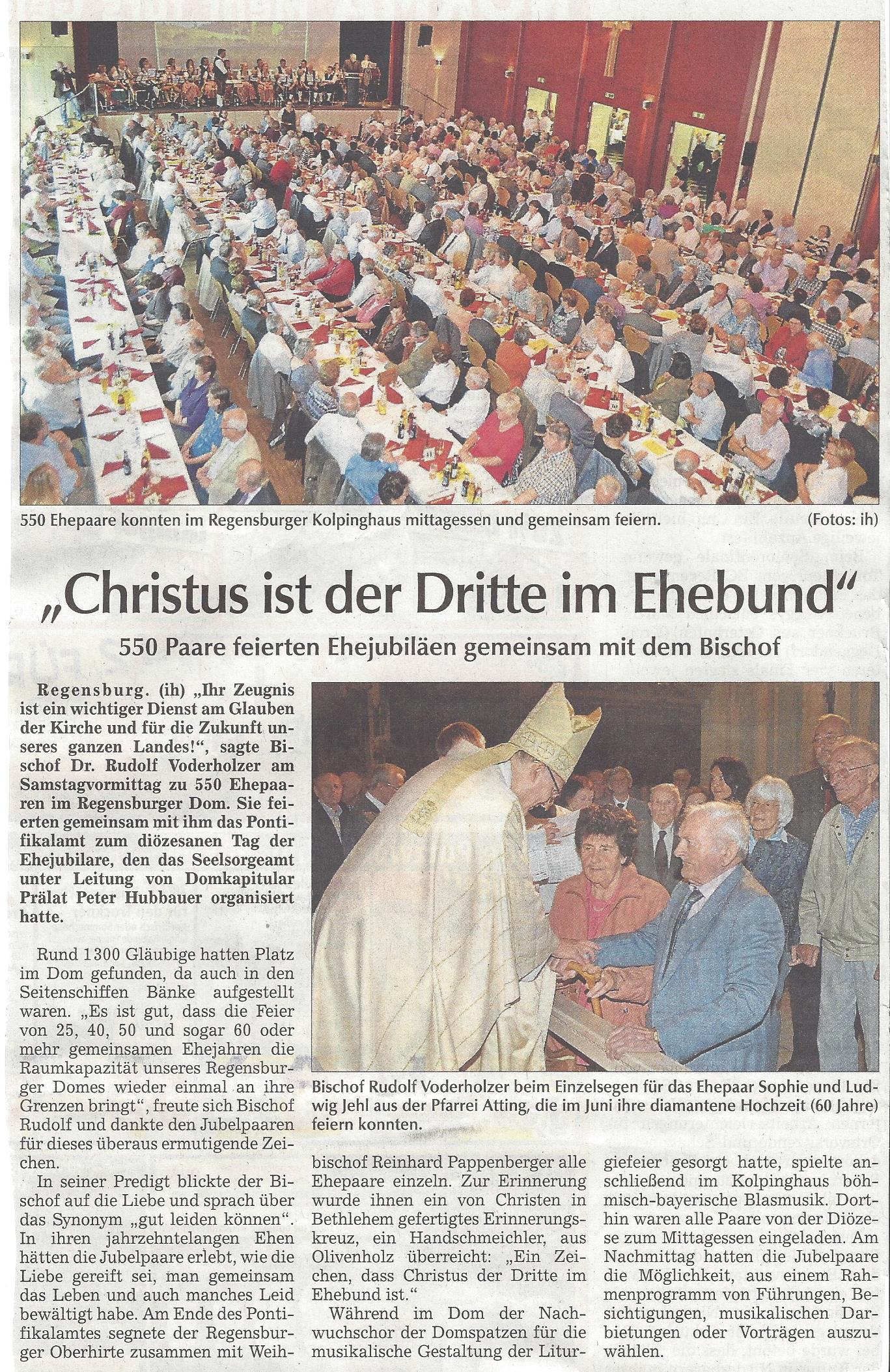 presseartikel_attinger_beim_ehejubiläum_der_diözese_in_regensburg