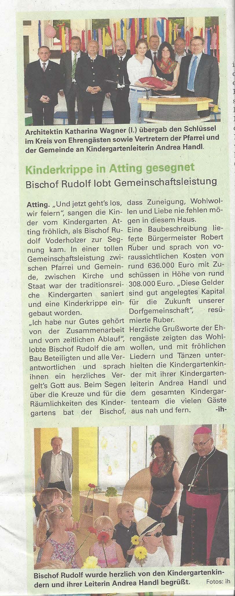 presseartikel_kindergartensegnung_gäuboden_aktuell