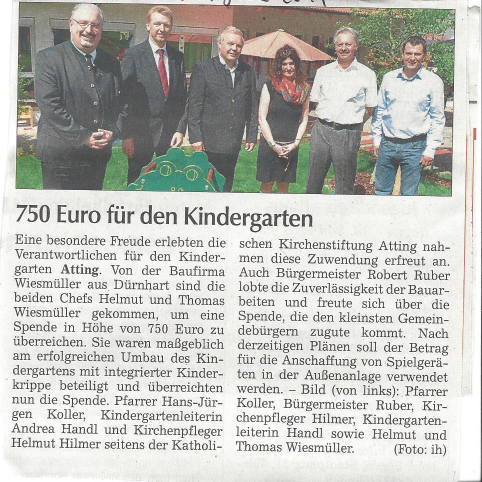 presseartikel_spende_wiesmüller_an_kindergarten