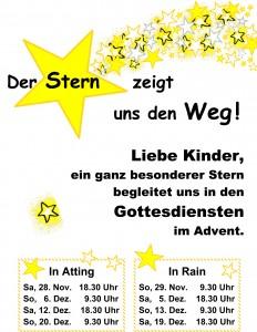 Plakat Stern Advent 2015